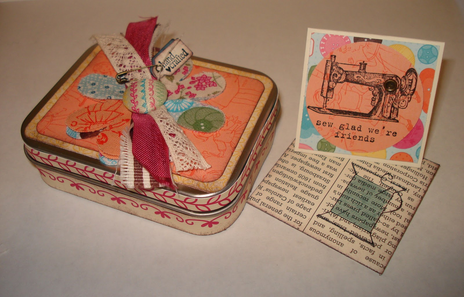 Marias Handmade Cards Hand Crafted Sewing Box
