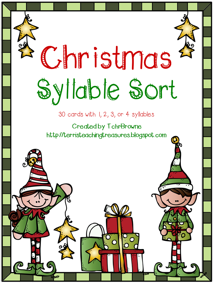 http://www.teacherspayteachers.com/Product/Christmas-Words-Syllable-Sort-980220
