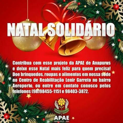 NATAL SOLIDÀRIO, Apae de Anapurus continua recebendo doações para às familias carentes a entrega das doações será neste Domingo (24) na Apae às 08:00 horas da manhã.