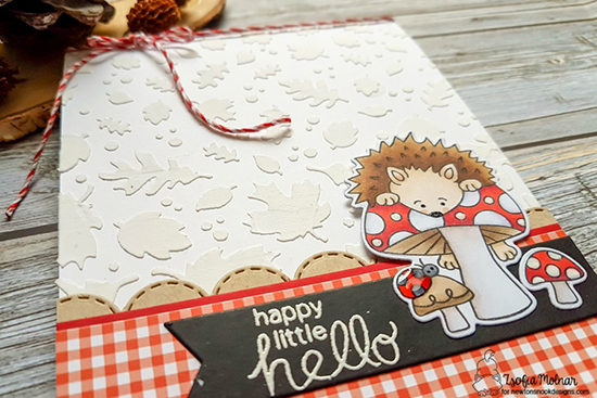 Happy Hedgehog Hello by Zsofia Molnar | Hedgehog Hollow Stamp Set and Falling Leaves Stencil by Newton's Nook Designs #newtonsnook #handmade