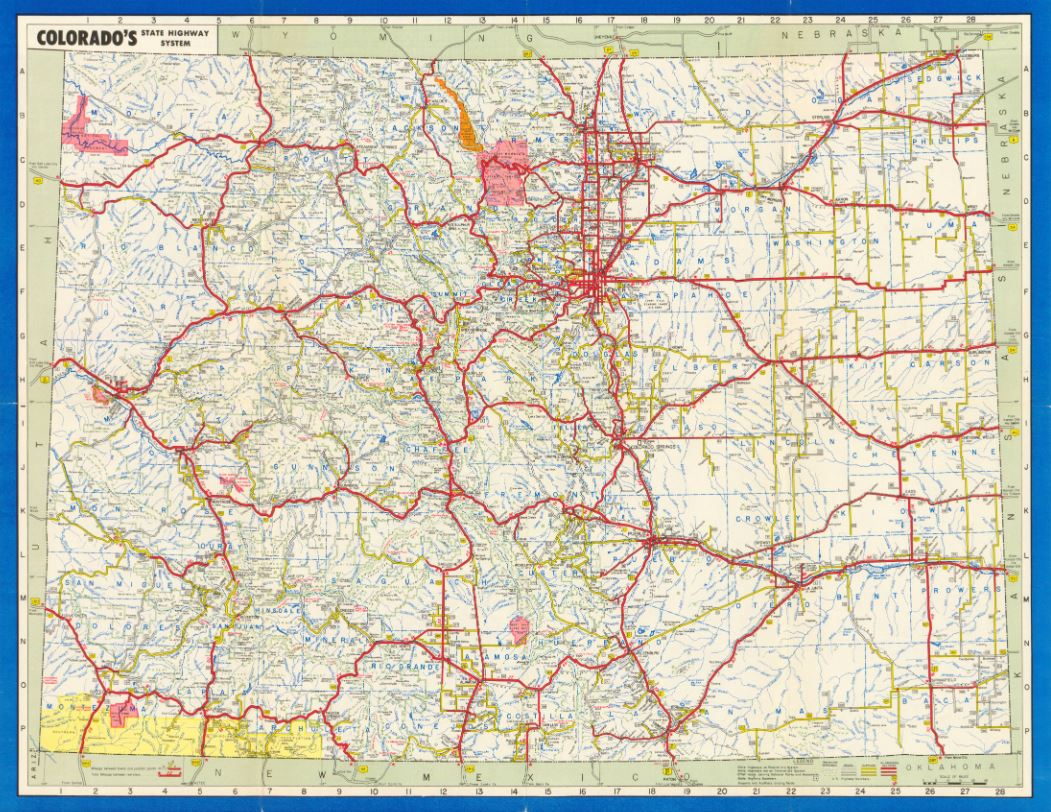 colorado s state highway system in 1951