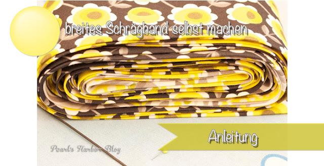 Breites Schrägband selbst machen ohne Schrägbandformer