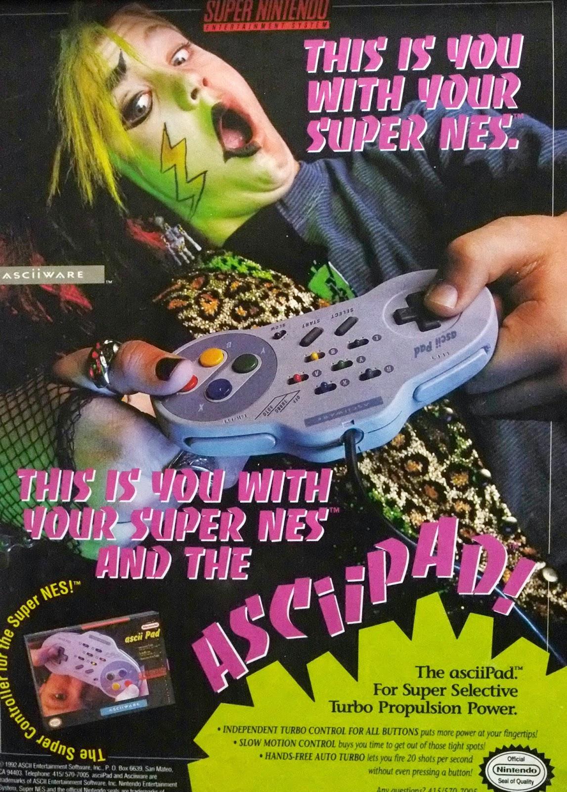 Ascii Pad for SNES advertisement
