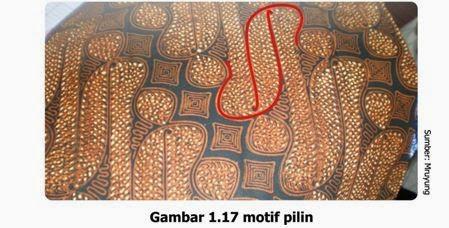 27 Contoh Gambar Ragam Hias Geometris Pada Batik Indonesia 2