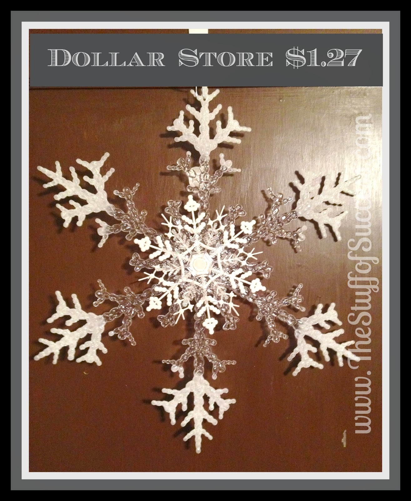 Dollar Store Triple Snowflake Door Decoration  The Stuff ...
