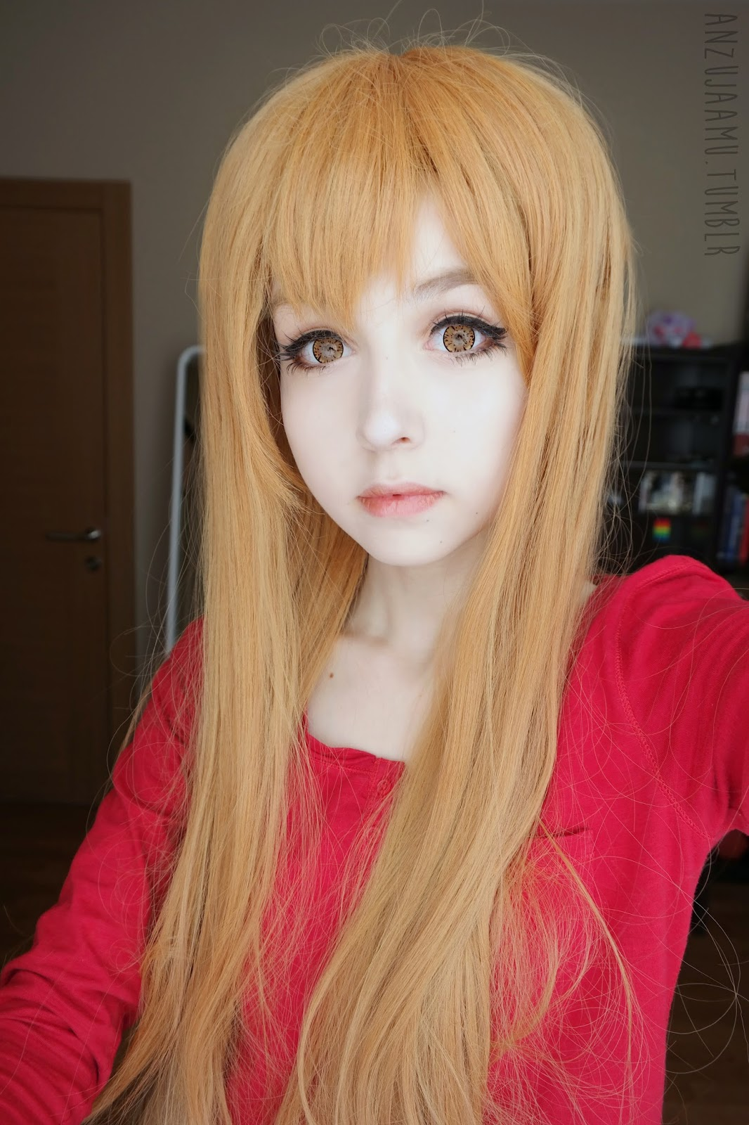 asuna hair style uniqso i cara brown lenses amp asuna yuuki wig review 3405