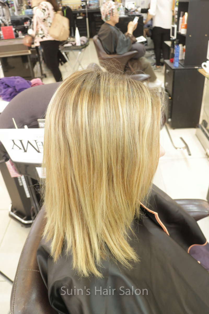 Mesh Technic Hair Coloring In Suins Hair Salon Suins Hair Salon