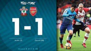Southampton vs Arsenal 1-1 Video Gol & Highlights