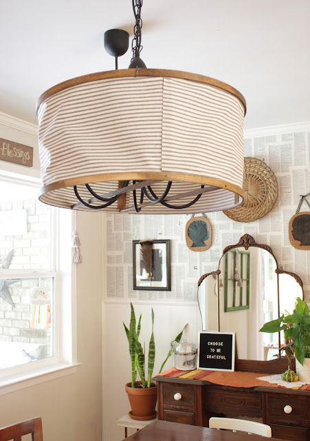 This would be great for covering up outdated lighting. Quick project, big statement.