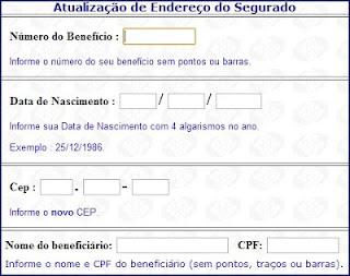 Como atualizar endereço dos aposentados e pensionistas do INSS.