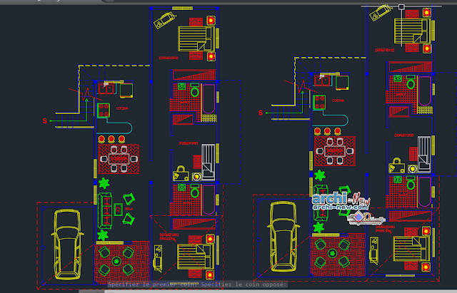 Housing two levels in AutoCAD