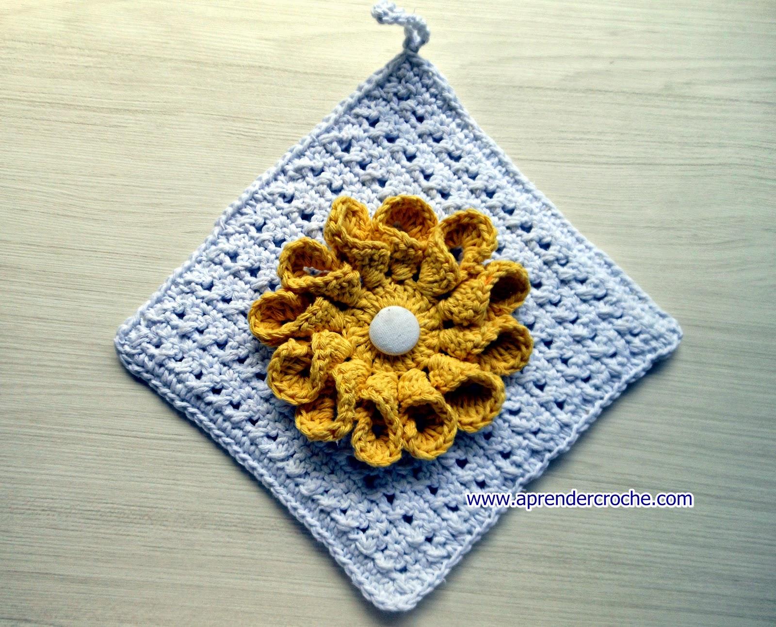 aprender croche pega panelas floral girassol dálias dvd video-aulas loja curso de croche frete gratis edinir-croche