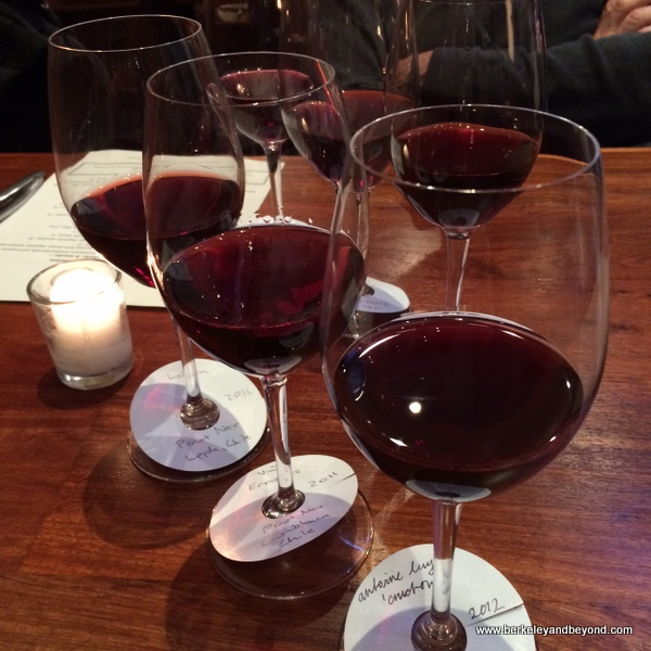 Chilean pinot noirs wine flight at The Barrel Room in San Francisco