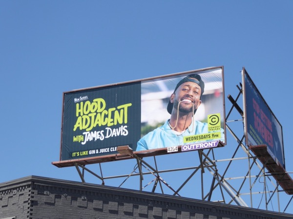 Hood Adjacent James Davis billboard