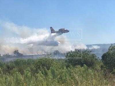 Μεγάλη φωτιά στη Νότιο Κέρκυρα