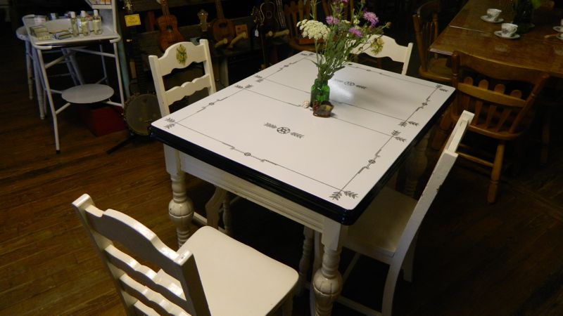 The Wildwood Flower Some Of Our Enamel Table Selection