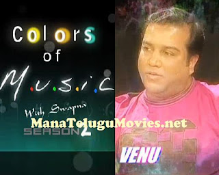 Singer Venu in Colors of Music with Swapna