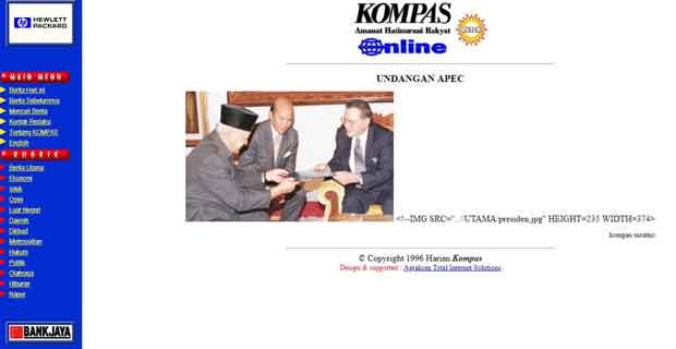 Tampilan Awal Website Terbesar di Indonesia