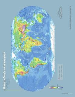 Apoyo Primaria Atlas de Geografía del Mundo 5to. Grado Capítulo 2 Lección 1 Relieve Continental y Oceánico Mundial