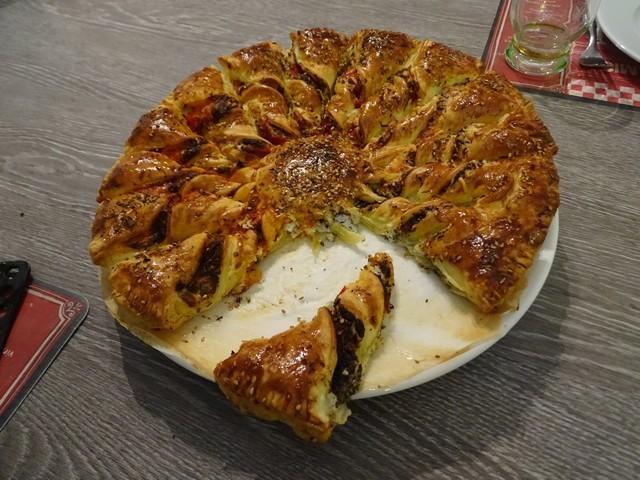 Cuisine en folie tarte du soleil au fromage de ch vre - Telematin recettes cuisine carinne teyssandier ...