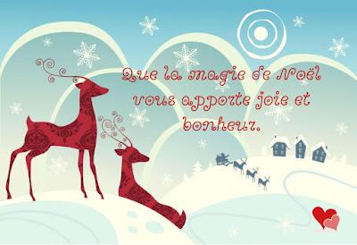 Carte de vœux sur l'esprit et la magie de Noël