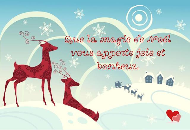 Carte de Noël mignonne avec un joli renne