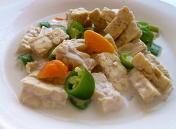 Cara memasak lodeh  tempe cabai hijau, resep lodeh tempe cabai hijau