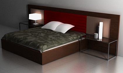 free 3d model bed