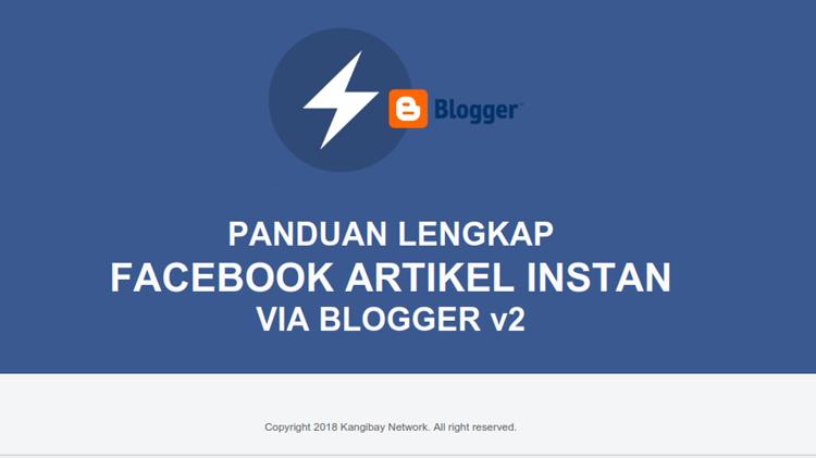 eBook Panduan Lengkap Instant Articles Facebook untuk Blogger