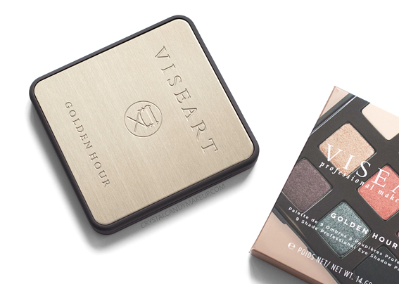 Viseart Golden Hour Eyeshadow Palette Review Packaging