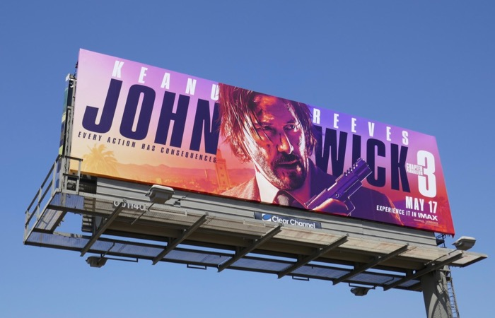 John Wick Chapter 3 movie billboard