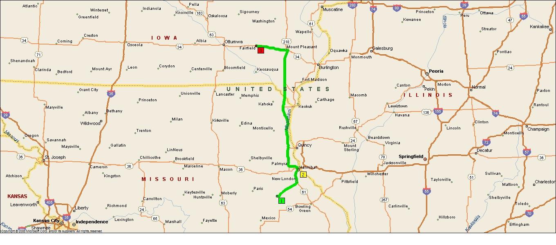 Jefferson County Iowa Map.Roving Reports By Doug P 2013 17 Fairfield Iowa