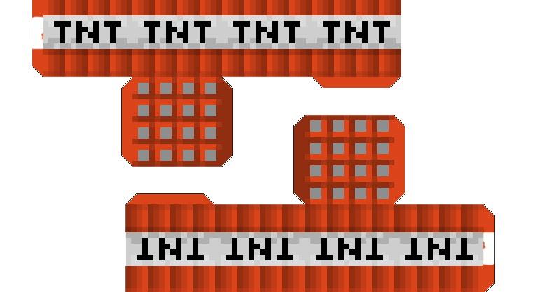 paper craft: NEW 721 PAPERCRAFT MINECRAFT TNT