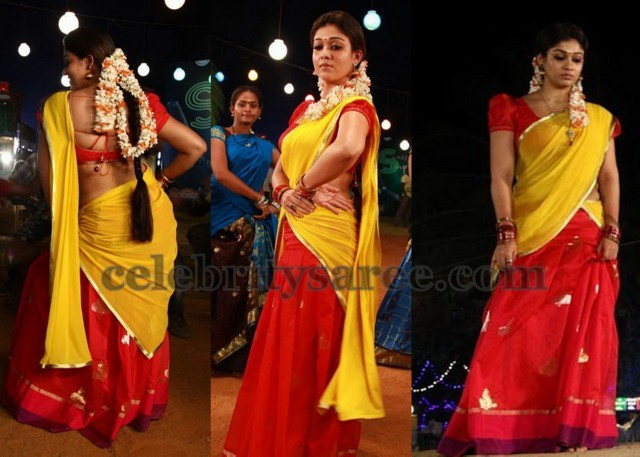 fe71e7c71d1994 Nayantara in Half Saree - Saree Blouse Patterns