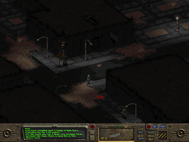 Screenshot of the Hub from the original Fallout