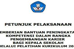 Juklak Pemberian Bantuan Peningkatan Kompetensi Kurikulum 2013 Bagi Kepala SD, SMP, SMA dan SMK