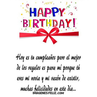 Feliz Cumpleaños Amorcito Happy Birthday novia mi razón de existir