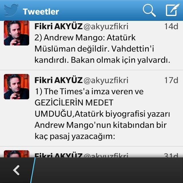 Fikri Akyüz - Andrew Mango - Atatürk Müslüman değildi