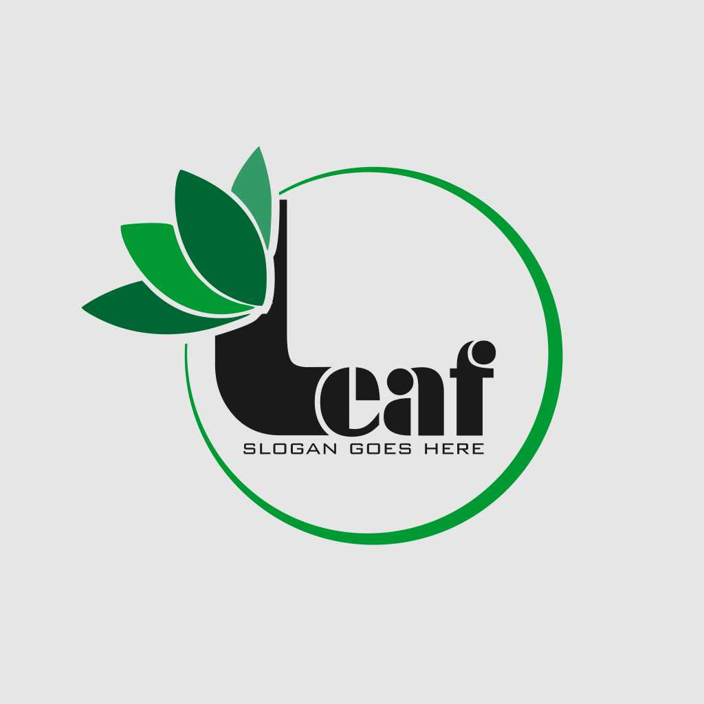 Leaf Design Circle Logo Template Free Download Vector CDR, AI, EPS and PNG Formats