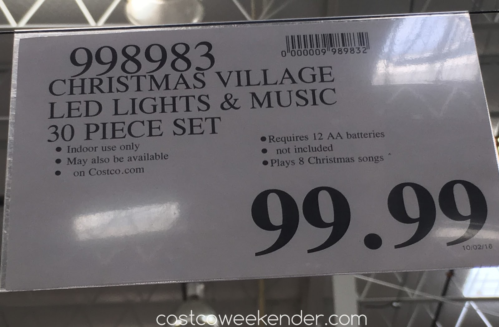 deal for the christmas village with lights and music at costco