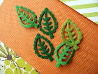 Felt leaves - kit detail - Jimjams