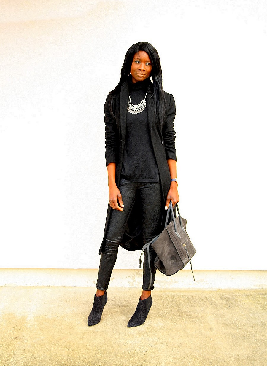 ootd-boots-isabel-marant-celine-phantom-bag-manteau-long-collier-plastron-look-all-black