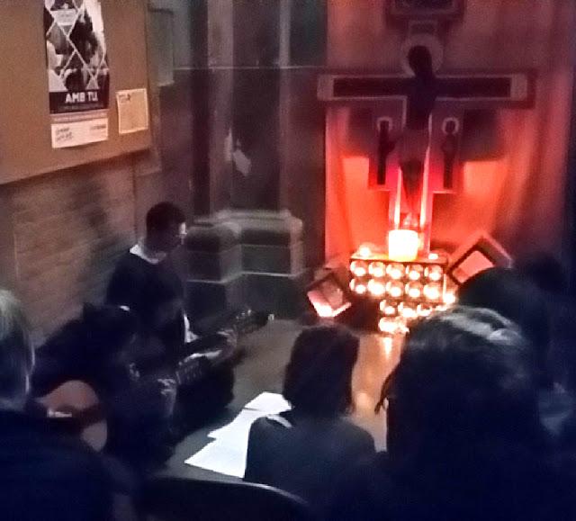 Pregària de Taizé  a la Geltrú amb el Bernat Soler