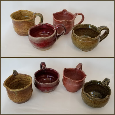 Tony Clennell inspired stoneware mugs by Lily L.