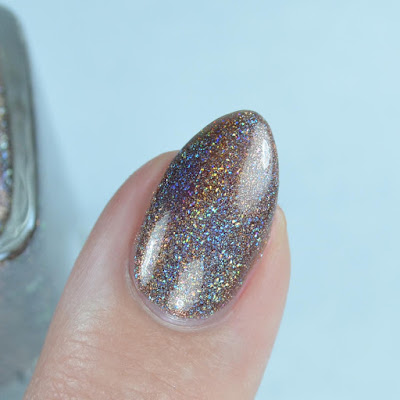 brown holographic nail polish
