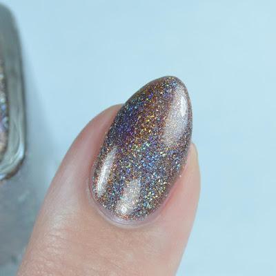 brown holographic nail polish