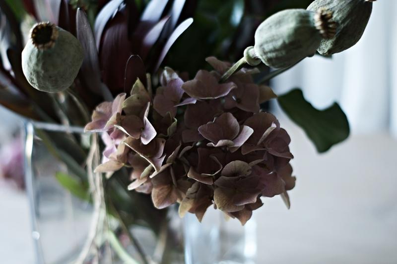 Blog + Fotografie by it's me! - Herbstblumenstrauss mit Hortensien
