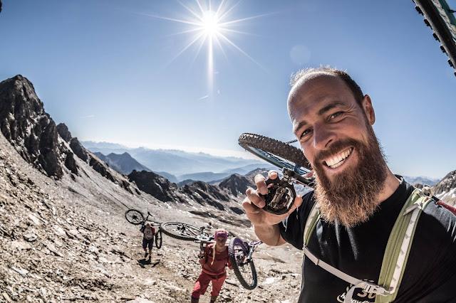 Aufstieg Wilde Kreuzspitze Bike Mountainbike