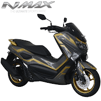Harga Cash dan Kredit Motor Modifikasi Yamaha NMax Custom Gunmetal Strip Gold