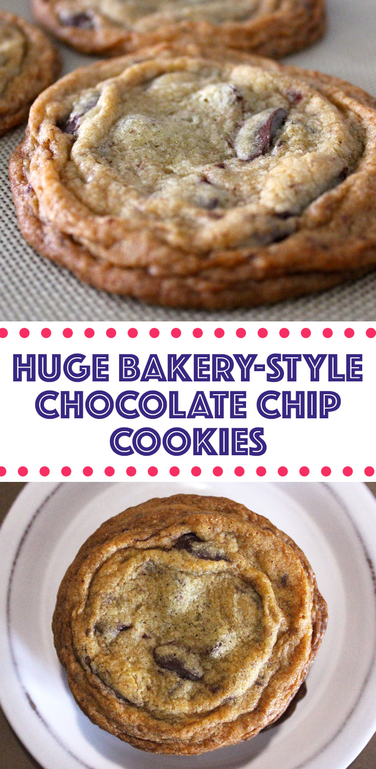 Huge Chocolate Chip Cookies Fresh From The